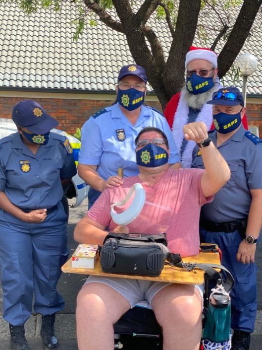 Honeydew Police visit Ann Harding Cheshire Home